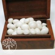 Schneequarz Trommelsteine 1kg weiße Steine Großhandel 20/30mm