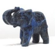 Elefant aus Sodalith gross ca. 100mm